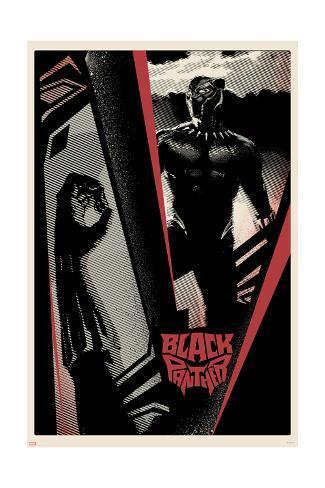 Bold Black Panther Art Print
