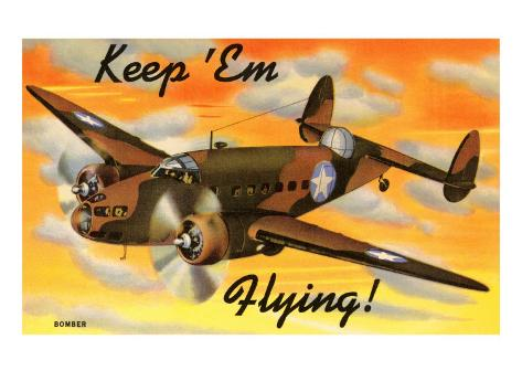Bomber Airplane Art Print