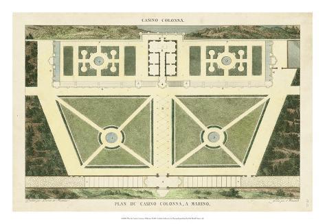 Plan du Casino Colonna, A Marino Giclee Print