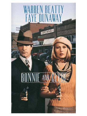 Bonnie and Clyde, 1967 Art Print