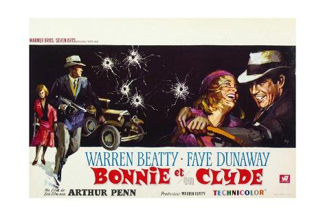 Bonnie and Clyde, (AKA Bonnie Et Clyde), 1967 Gicléetryck