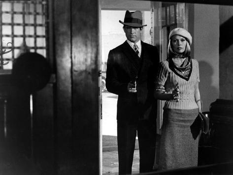 Bonnie and Clyde, Warren Beatty, Faye Dunaway, 1967 Foto