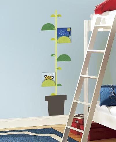 Book Nook One Dcor Peel And Stick Metric Growth Chart Wall Decals