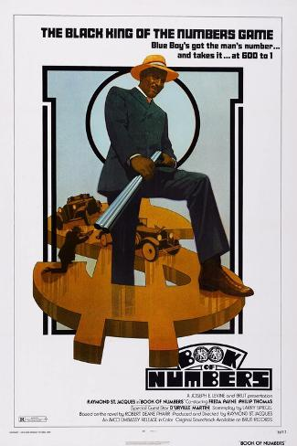 Book of Numbers, Raymond St. Jacques, 1973 Konstprint