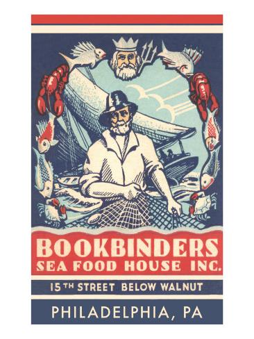 Bookbinders Seafood House Advertisement Art Print