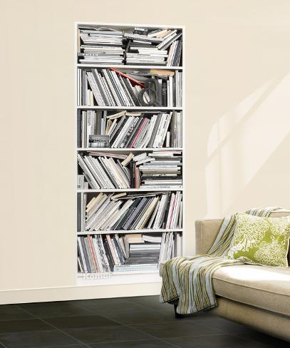 Bookcase wall mural wallpaper mural at for Bookcase wall mural