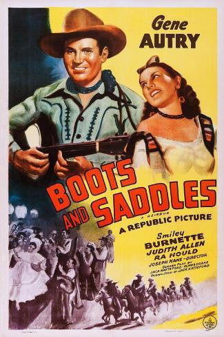 Boots and Saddles Art Print