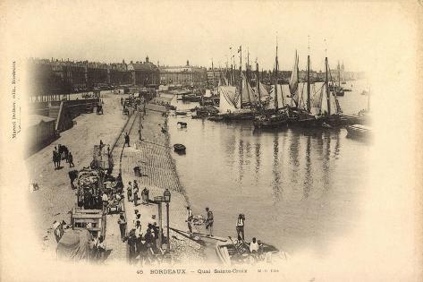 Bordeaux Gironde, Quai Sainte Croix, Hafen, Fischer Giclee Print
