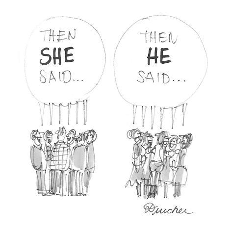 Then she said . . .'  - Cartoon Premium Giclee Print