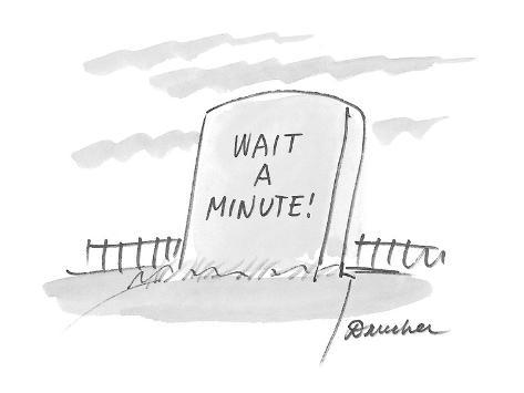 Wait A Minute! - Cartoon Premium Giclee Print