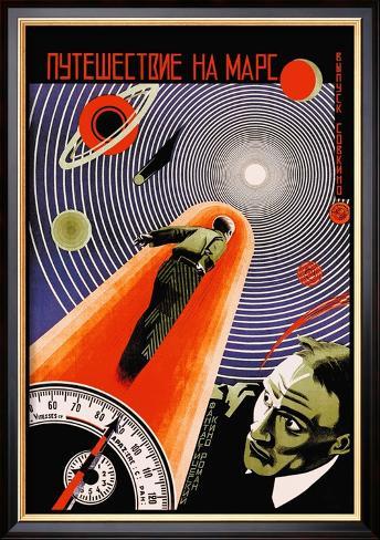 Journey to Mars Framed Art Print