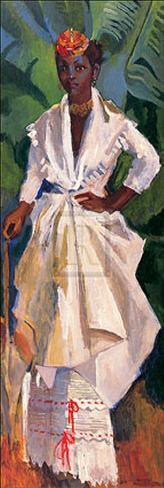 Donna in bianco II Stampa artistica