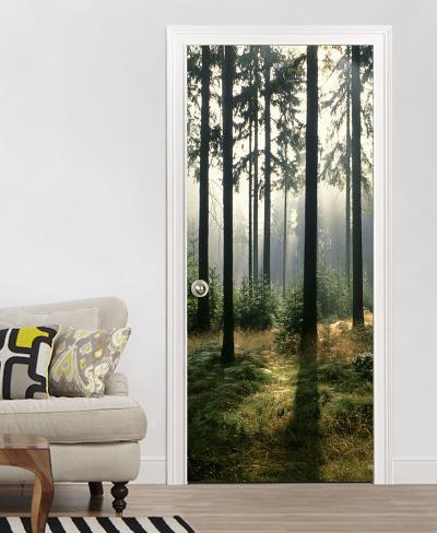 Bosque papel pintado para las puertas mural de papel pintado en - Papel pintado para puertas ...