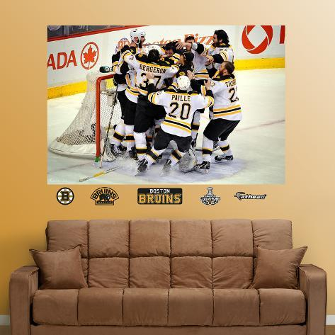 Boston Bruins Stanley Cup Celebration Mural Wall Mural