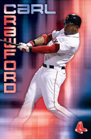 Boston Red Sox Carl Crawford Sport Poster Print Poster