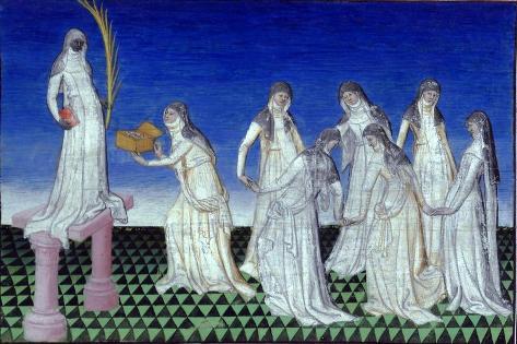 Worship of a Black Female Deity on India's Malabar Coast, from 'Le Livre Des Merveilles', C.1410-12 Lámina giclée