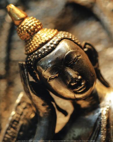 Bouddha Dore Stampa artistica