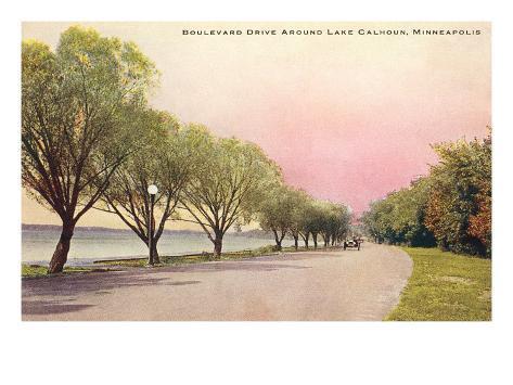 Boulevard Drive, Minneapolis, Minnesota Art Print