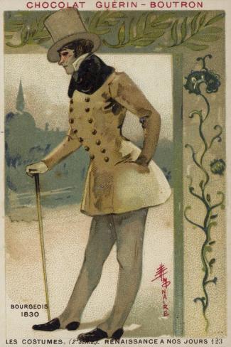 Bourgeois Costume, 1830 Stampa giclée