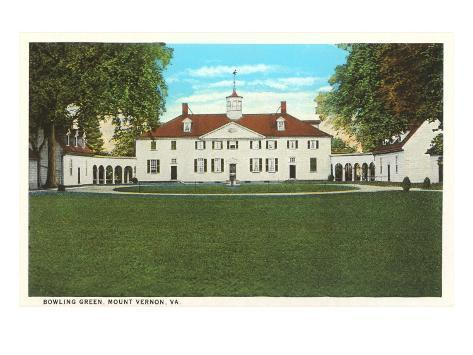 Bowling Green, Mt. Vernon, Virginia Art Print