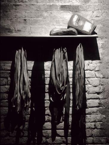 Boxing Equipment, New York, New York, USA Photographic Print