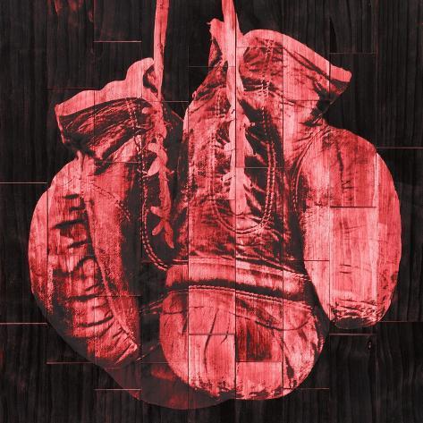オールポスターズの boxing gloves red プレミアムジクレープリント
