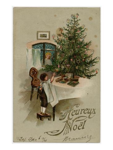 Boy and Tree Stampa giclée