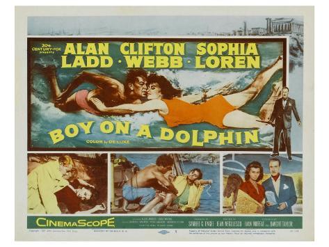 Boy on a Dolphin, 1957 Art Print