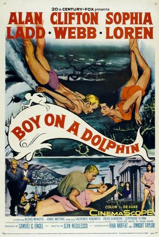 Boy on a Dolphin Poster