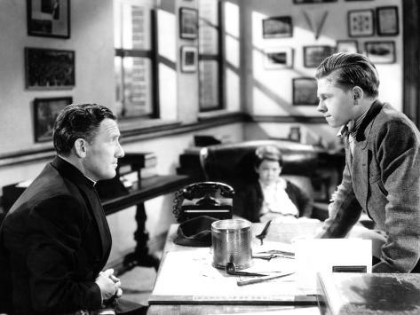 Boys Town, Spencer Tracy, Mickey Rooney, 1938 Photo