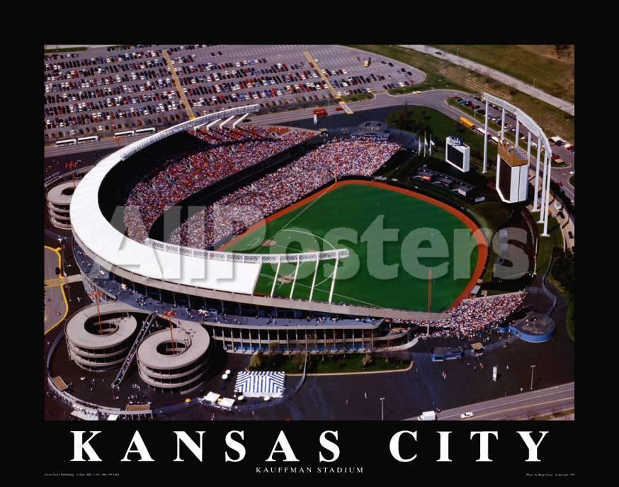 Estadio Kauffman de los Kansas City Royals Arte por Brad Geller en ...