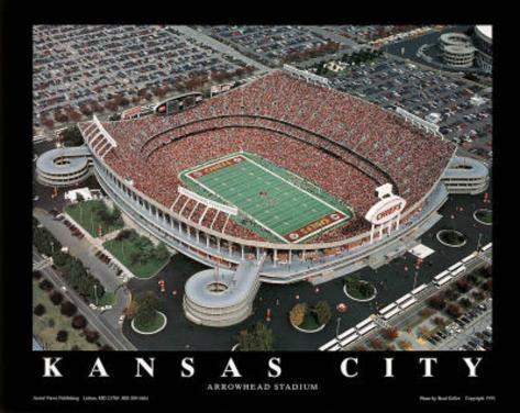 Kansas City Chiefs Arrowhead Stadium Sports Art Print