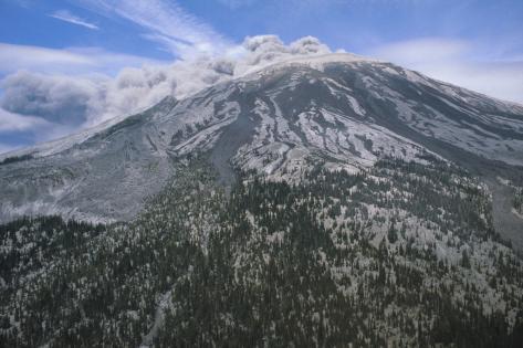Mount Saint Helens Erupting Photographic Print