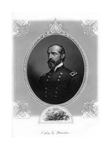 General George Meade, Us Army Officer and Civil Engineer, 1862-1867 Giclee Print