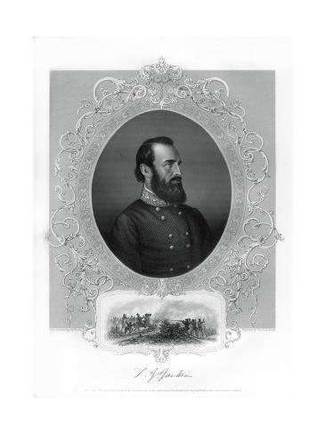 Thomas Jonathan Stonewall Jackson, Confederate General During the American Civil War, 1862-1867 Giclee Print