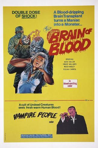Brain of Blood with Vampire People Konstprint