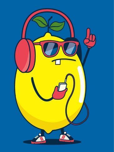 Cool Lemon Character Vector Design for Kids Tee Shirt Prints by ...