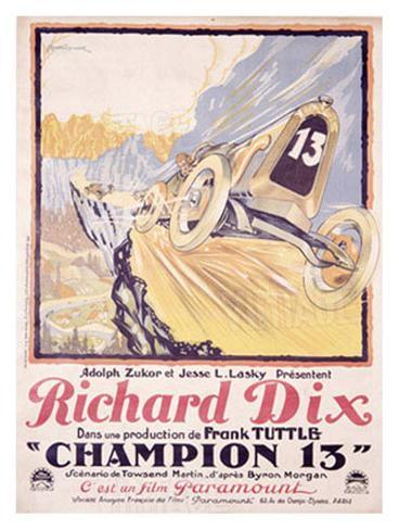 Richard Dix Champion 13 Giclee Print