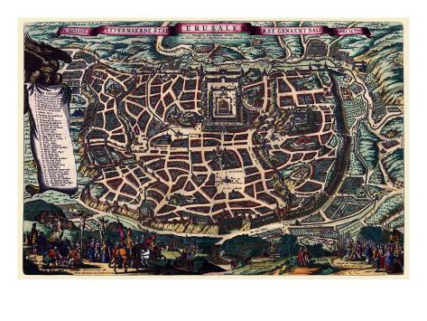 Solomon's Temple - Jerusalem Art Print