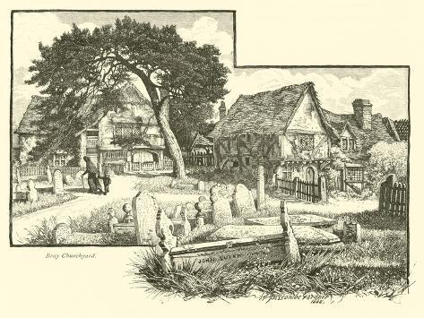 Bray Churchyard Giclee Print