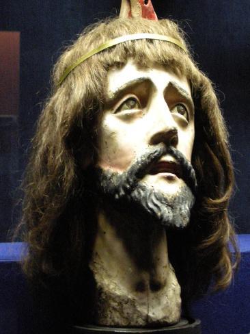 Head of Christ (Wood and Human Hair) Lámina giclée