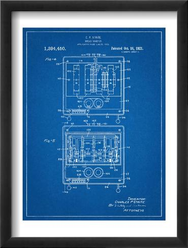 Bread Toaster Patent Framed Art Print