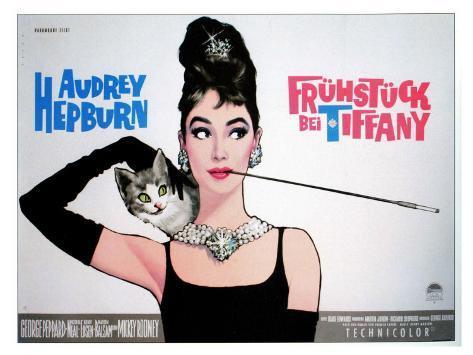 Breakfast At Tiffany's, Sweden Movie Poster, 1961 Art Print