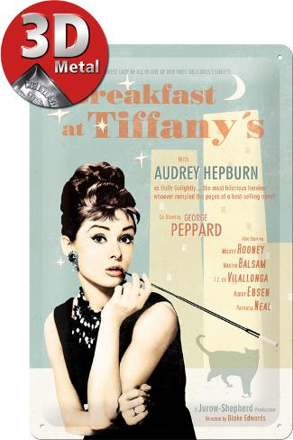 Breakfast at Tiffanys Blue Plåtskylt