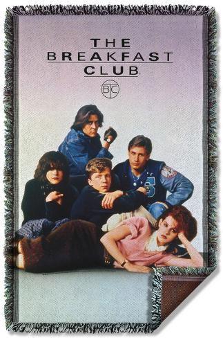 Breakfast Club - Poster Woven Throw Throw Blanket