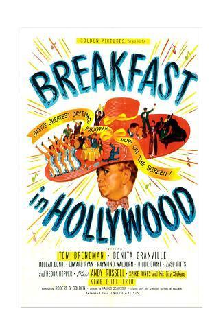 Breakfast In Hollywood, Tom Breneman, 1946 Art Print