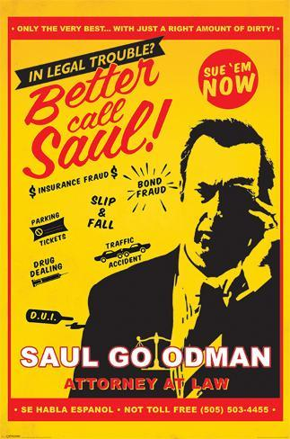 breaking bad better call saul attorney at at law pster