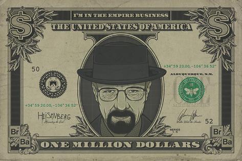 Breaking bad heisenberg dollar psters en allposters breaking bad heisenberg dollar pster urtaz Image collections