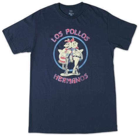 Breaking Bad - Los Pollos Hermano Navy Camiseta