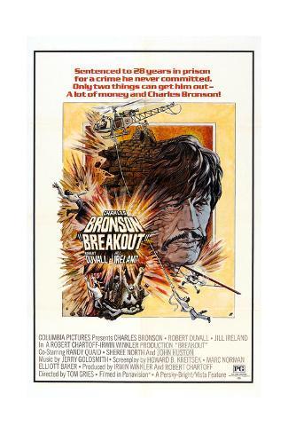 Breakout, Charles Bronson, 1975 Art Print